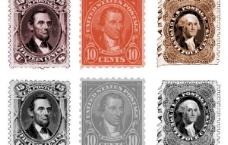 6年的美國郵票集