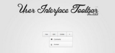 甜蜜的Web UI的CSS / HTML工具欄菜單