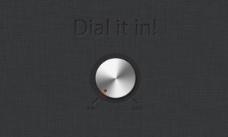 圓鋁撥號用戶界面元素psd