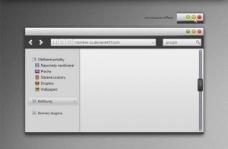 MAC视觉风格的概念的Web界面PSD