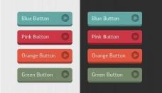 4色彩鲜艳明快的3D用户界面按钮设置PSD