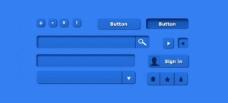 質量好的藍色的Web UI工具包PSD