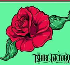 向量的红玫瑰
