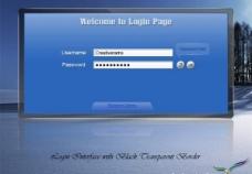 黑色的透明邊界PSD登錄界面