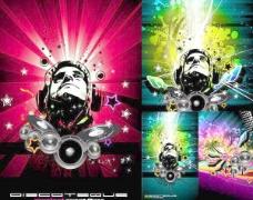音乐海报矢量方向