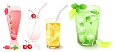 冰凉的饮料水果矢量图形