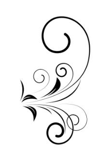 装饰旋流花卉矢量设计元素的形状