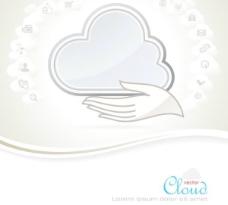 时尚色彩云主题颜色信息的文本模板设计矢量素材01