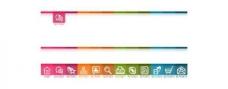 高级网站导航菜单UI元素PSD