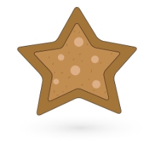饼干式圣诞星