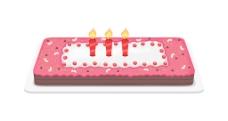 在周年庆蛋糕蜡烛