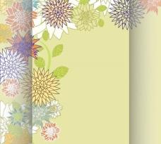复古花背景的文本模板矢量素材