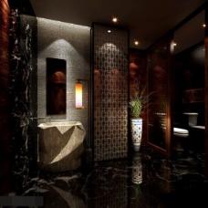 中式厕所图片