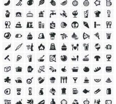 常见的黑色和白色的图标矢量素材09
