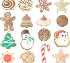 圣诞饰品饼干向量