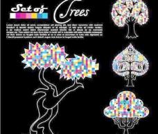 摘要树背景矢量素材01矢量素材