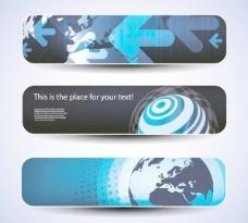 现代科技的旗帜背景模板矢量素材02
