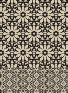 棕色花朵背景图案素材
