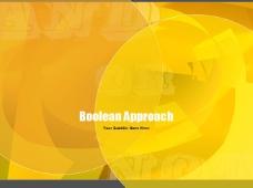 清新黄色创意设计PPT模板