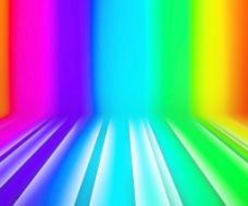 发光的条纹的彩虹舞台背景