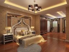豪华的卧室背景墙设计