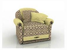 欧式花纹沙发3D模型素材