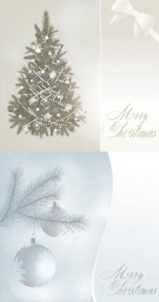 彩球矢量华丽的圣诞树
