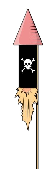 海盗的饼干-卡通插画矢量