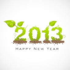 2013新年快乐的程式化的背景