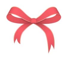 圣诞丝带蝴蝶结矢量