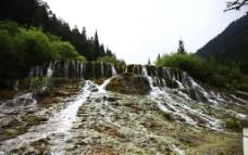 黄龙瀑布图片