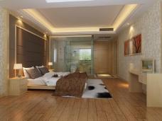 大气简约的卧室背景墙设计
