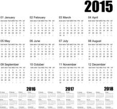 2015年日历图片