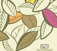 黄色的树叶矢量素材1