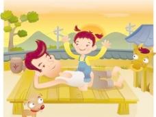 iclickart卡通家庭插画矢量素材17