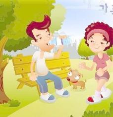 iclickart卡通家庭插画矢量素材10