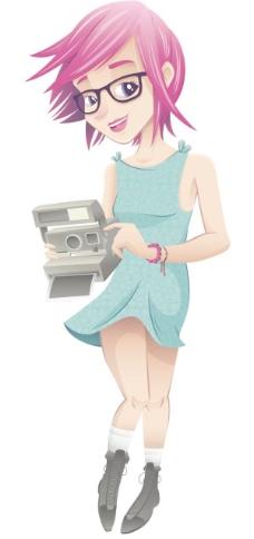 动漫女孩矢量素材03