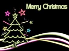圣诞灯装饰背景