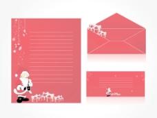 圣诞背景和信封信纸