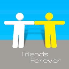 情人节快乐的概念与两个朋友加入他们的手