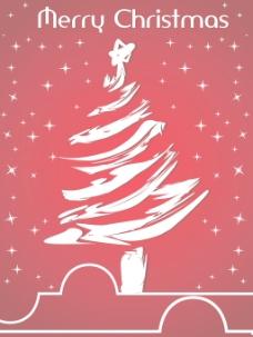 闪烁的圣诞树的星星背景