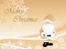 可爱的卡通圣诞背景