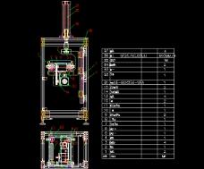 链传动提升机CAD图纸