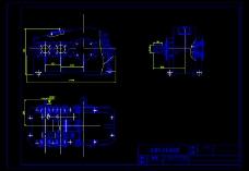 一种分流式双级圆柱齿轮减速器CAD图纸