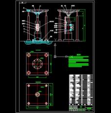 液压振动台图纸和计算 CAD图纸