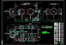 圆锥圆柱齿轮减速器总装图CAD图纸