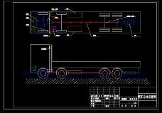 货运车总体布置图CAD图纸