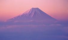 落日富士山图片
