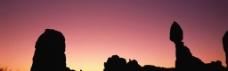 丘陵剪影 黄昏 沙漠图片