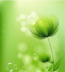 绿色梦幻花纹图片
